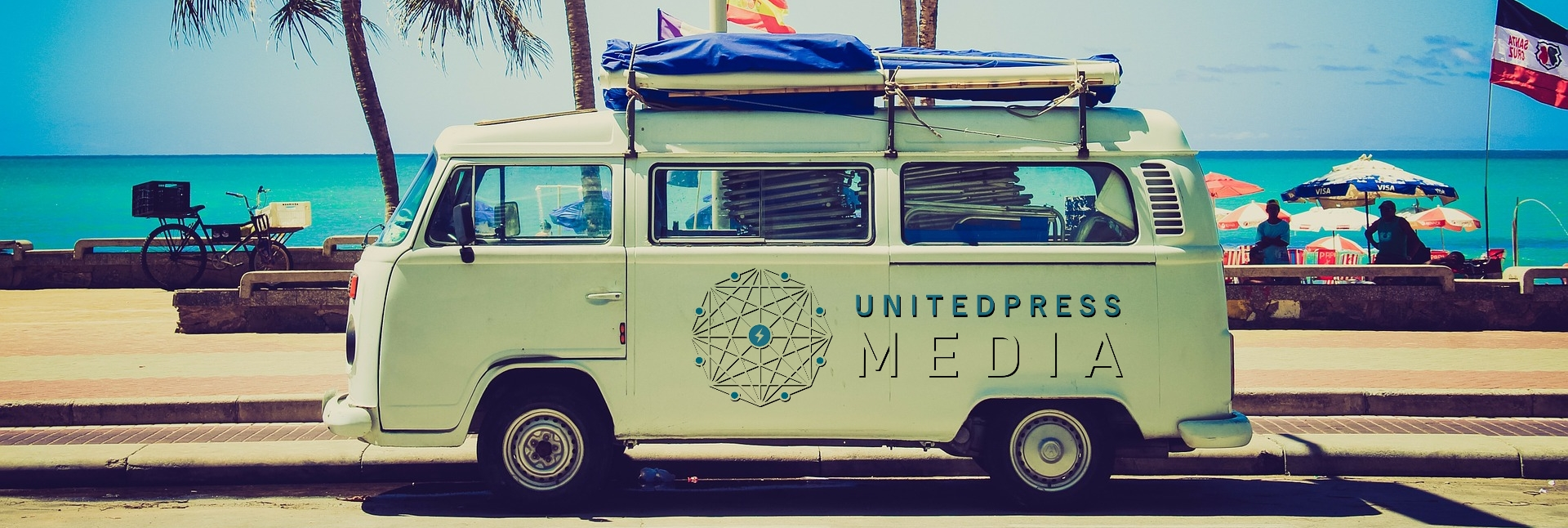 United Press Media Van Logo